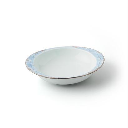 プラチナ牡丹(ブルー)−極上のカレー皿【小】−
