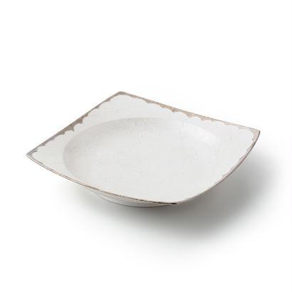 パール牡丹(プラチナ)リム皿
