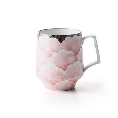 プラチナ牡丹(ピンク)モーニングマグ
