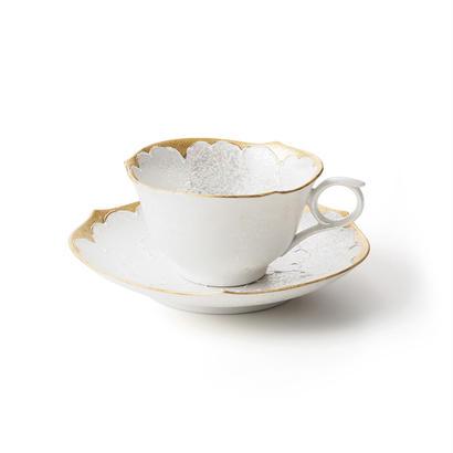パール牡丹(ゴールド)−輪花− カップ&ソーサー