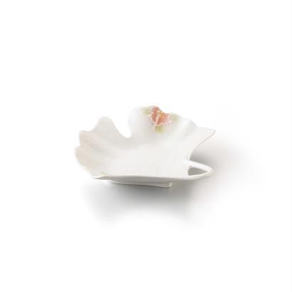 パール山茶花 いちょう型銘々皿