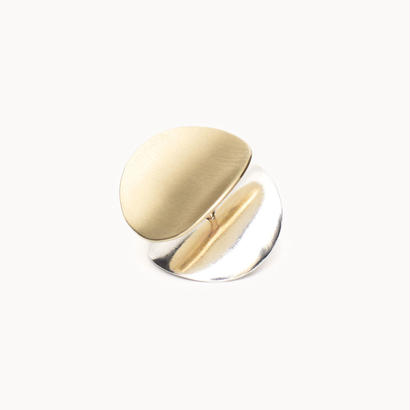Curved disk earring | Satin - INCURVARE