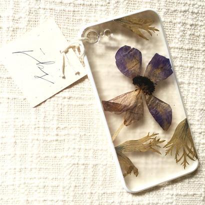 フローラル i phone 7 case  (ホワイト)②