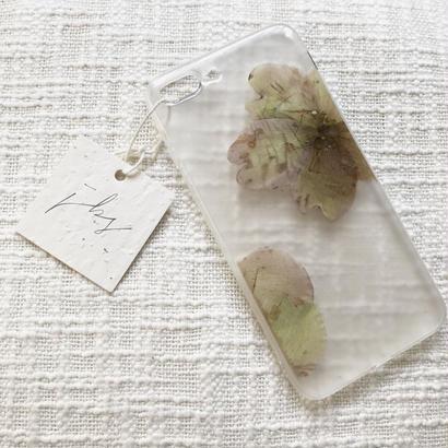 フローラル i phone7/8Plus case  (クリア)④