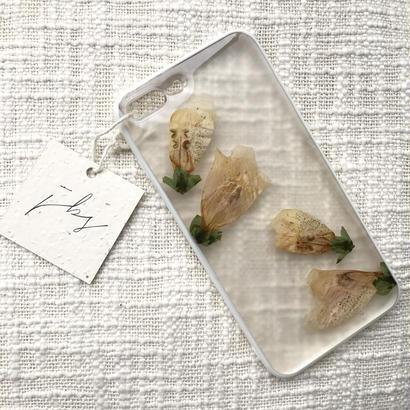 フローラル i phone7Plus case  (ホワイト)①