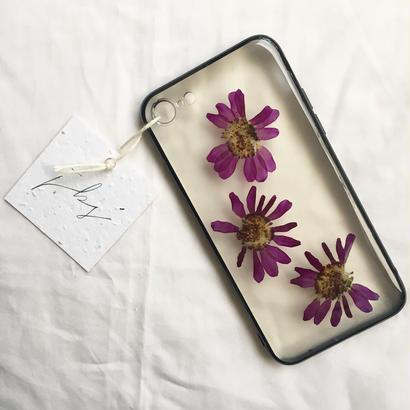 フローラル i phone 7 case  (ブラック)⑥
