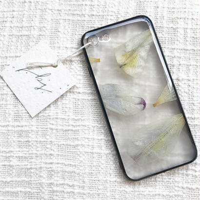 フローラル i phone 7 case  (ブラック)⑦