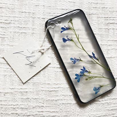 フローラル i phone 7 case  (ブラック)④