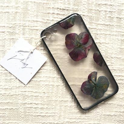 フローラル i phone 7 case  (ブラック)⑤