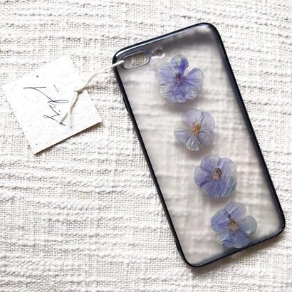 フローラル i phone7Plus case  (ブラック)②