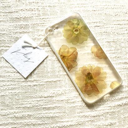 フローラル i phone 7 case (ホワイト)③