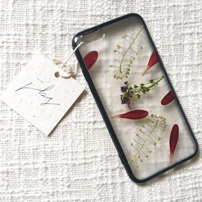 フローラル i phone 6/6S case(ブラック)⑦