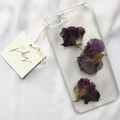 フローラル i phone7Plus case  (クリア)⑤