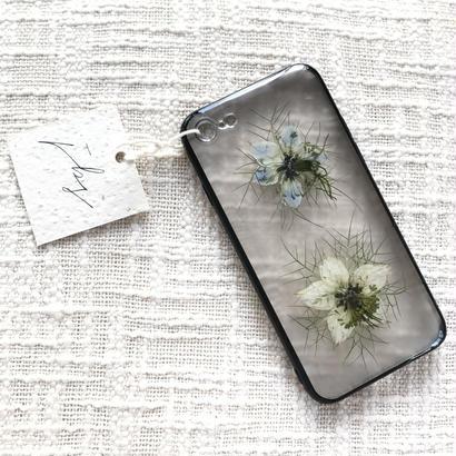 フローラル i phone 7 case  (ブラック)⑧
