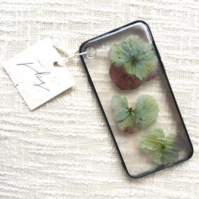 フローラル i phone 7 case  (ブラック)①