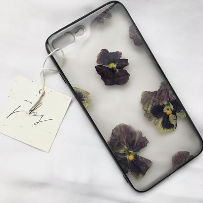 フローラル i phone7Plus case  (ブラック)⑤