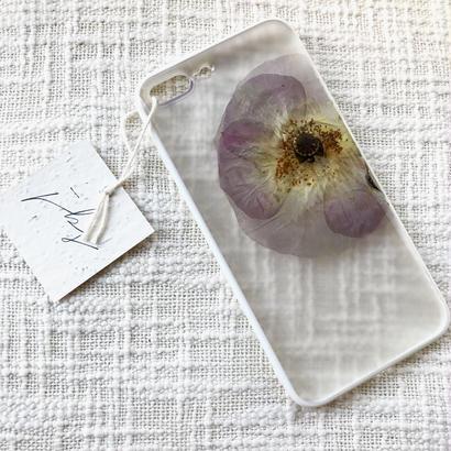 フローラル i phone7Plus case  (ホワイト)④