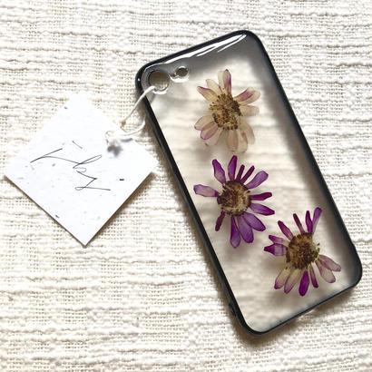 フローラル i phone 7/8 case  (ブラック)②
