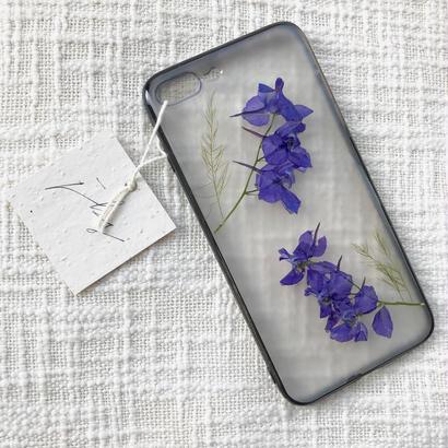 フローラル i phone7/8Plus case  (ブラック)④