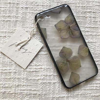 フローラル i phone 7/8 case  (ブラック)⑦