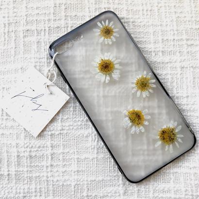 フローラル i phone7Plus case  (ブラック)④