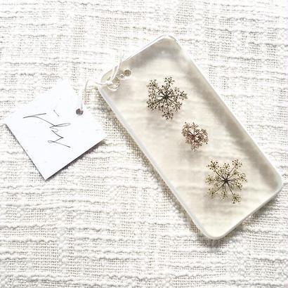 フローラル i phone 7 case  (ホワイト)④