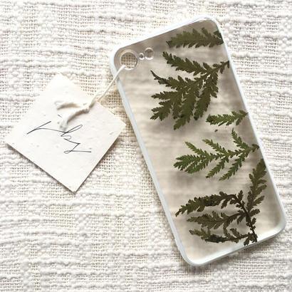 フローラル i phone 7/8 case  (ホワイト)①