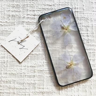 フローラル i phone 7/8 case  (ブラック)⑧