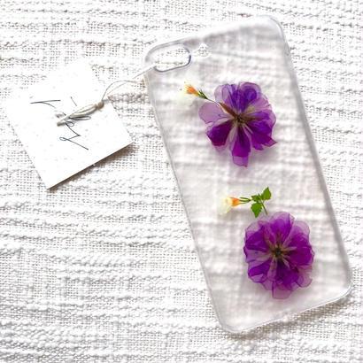 フローラル i phone7Plus case  (クリア)①
