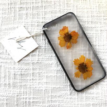 フローラル i phone 7 case  (ブラック)③