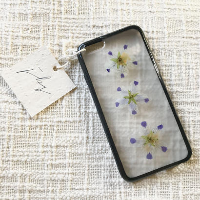 フローラル i phone 6/6S case(ブラック)⑥