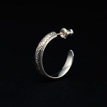 Engraved Hoop Earring (Single)
