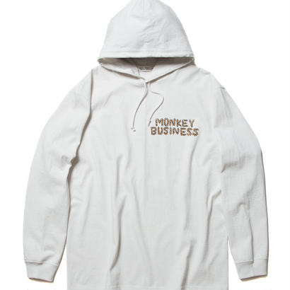 COOTIE Hooded Print L/S Tee (MONKEY BUSINESS)