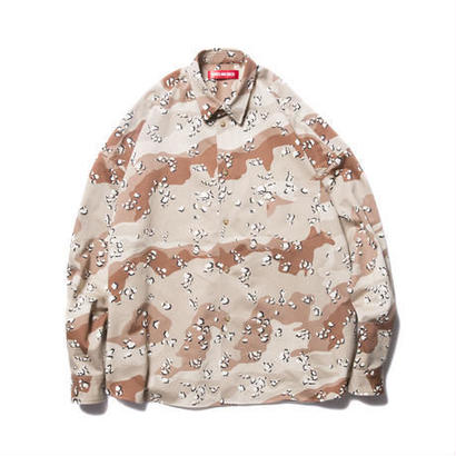 O.S. L/S SHIRT (CAMOUFLAGE) CHOCOLATE CHIP LSIZE