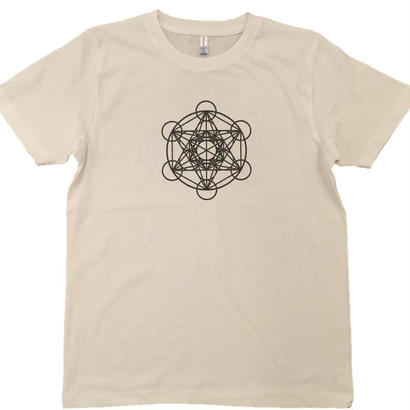 【Tシャツ】フラワー・オブ・ライフ4 コットン生地 麻炭インク100%