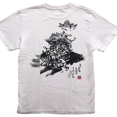 【ご当地Tシャツ】だんじり2 白 綿生地