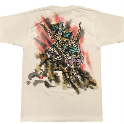 【手描きTシャツ】加藤清正 白 彩色 コットン生地