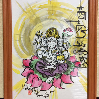 【手描き アートフレーム】B5サイズ ガネーシャ