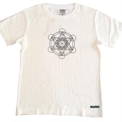 【Tシャツ】フルーツ・オブ・ライフ5 麻生地 麻炭インク100%