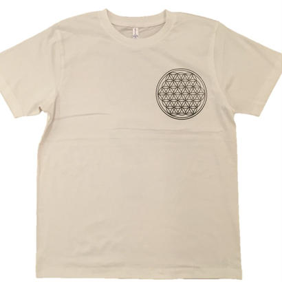 【Tシャツ】フラワー・オブ・ライフ2 コットン生地 麻炭インク100%