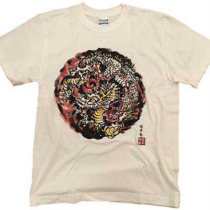 【ディスカウント商品】龍4 墨絵 Sサイズ