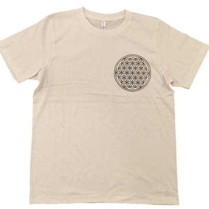【Tシャツ】フラワー・オブ・ライフ3 コットン生地 麻炭インク100%