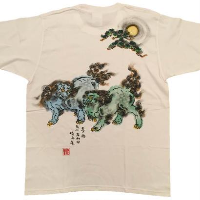 【ディスカウント商品】に獅子 薄緑 Mサイズ