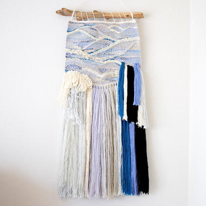 糸で色を作る-波打際-