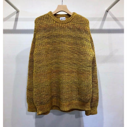 3G KID MOHAIR BLEND MELANGE PULL OVER KNIT