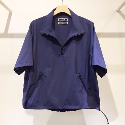S/SLEEVE HALF ZIP HI NECK SHIRTS BLOUSON (ONLINE EXCLUSIVE)