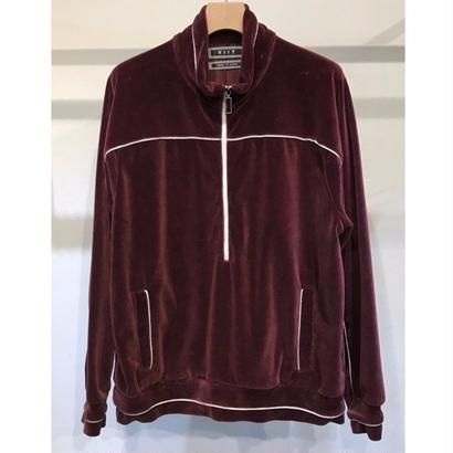 C/E HEAVY VELOUR HALF ZIP JERSEY TOPS