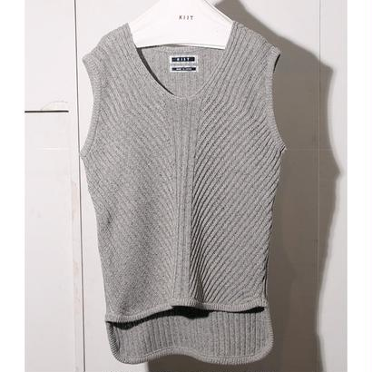 C / SI  NEP  YARN  V-NECK  KNIT  VEST
