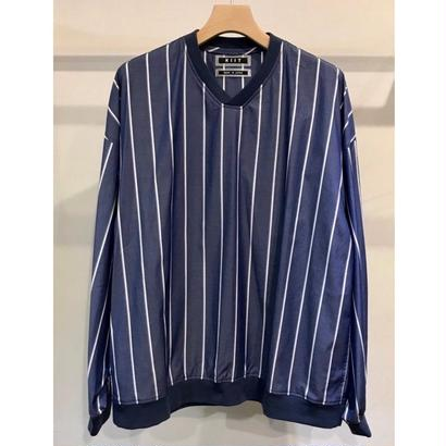 V-NECK  STRIPE  PULL OVER  SHIRTS