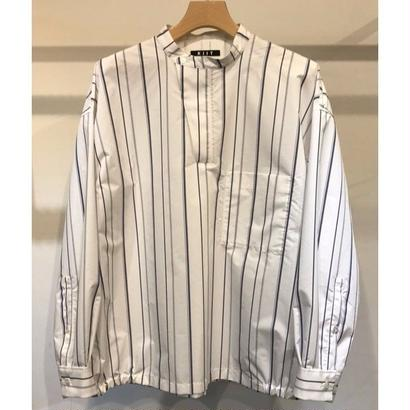 C / E STRIPE BAND COLLAR P/O L/SLEEVE SHIRTS